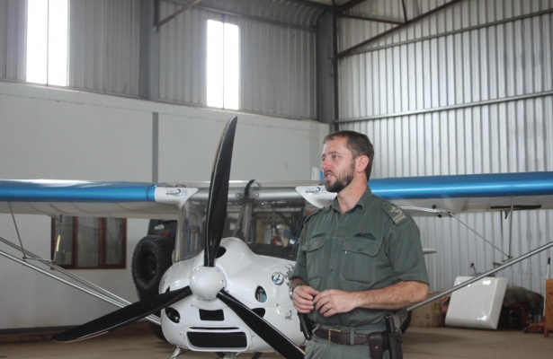 Lawrence Munro takes to the sky to catch poachers